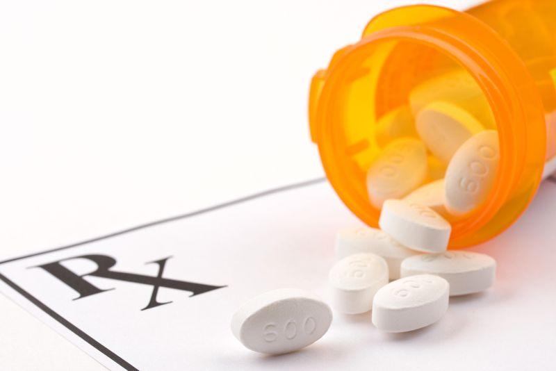 close up of prescription medication on a prescription pad
