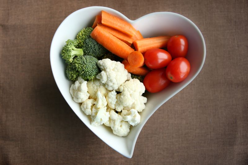 bowl of cut up raw vegetables