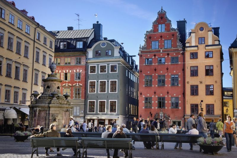 The great square of Stortorget, in Stockholm