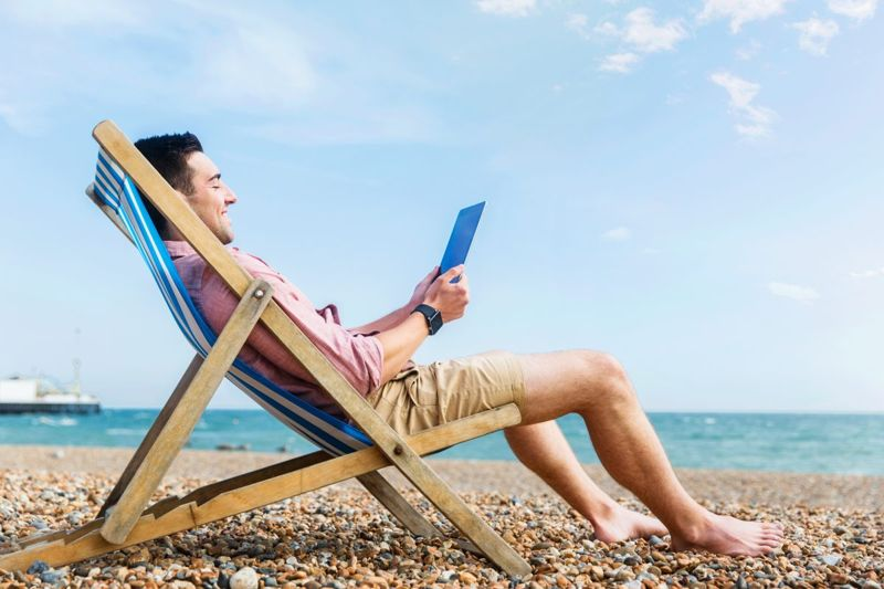 Man relaxing at beach