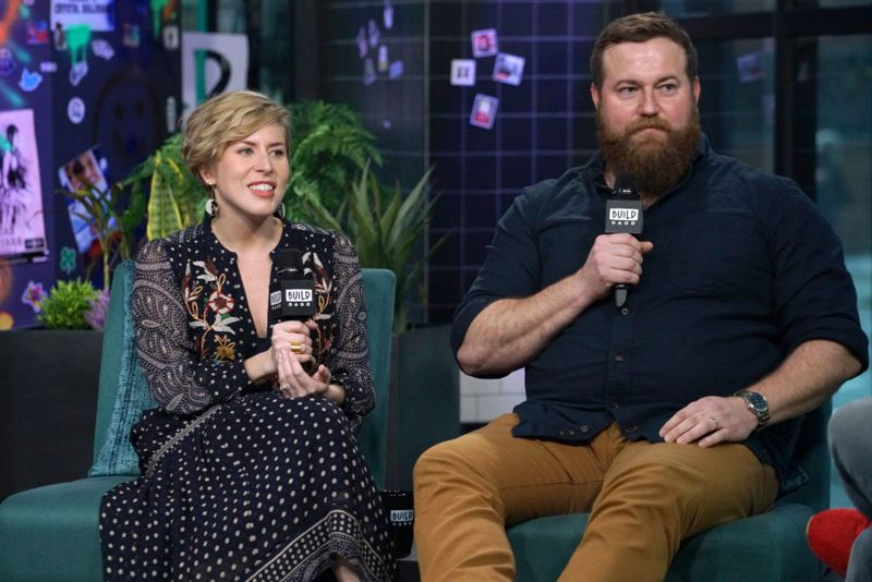"""NEW YORK, NEW YORK - JANUARY 08: Erin Napier and Ben Napier attend Build Series to discuss the new season of """"Home Town"""" at Build Studio on January 08, 2020 in New York City."""