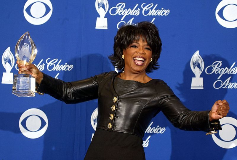 Television Star Oprah Winfrey poses backstage during the 30th Annual People's Choice Awards at the Pasadena Civic Auditorium January 11, 2004 in Pasadena, California.
