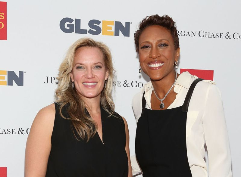 NEW YORK, NY - MAY 19: Amber Laign (L) and Robin Roberts attend 11th Annual GLSEN Respect awards at Gotham Hall on May 19, 2014 in New York City.