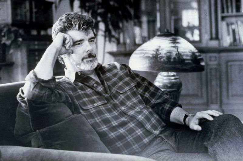 American director and producer George Lucas at Skywalker Ranch, Marin County, California, 22nd January 1992.