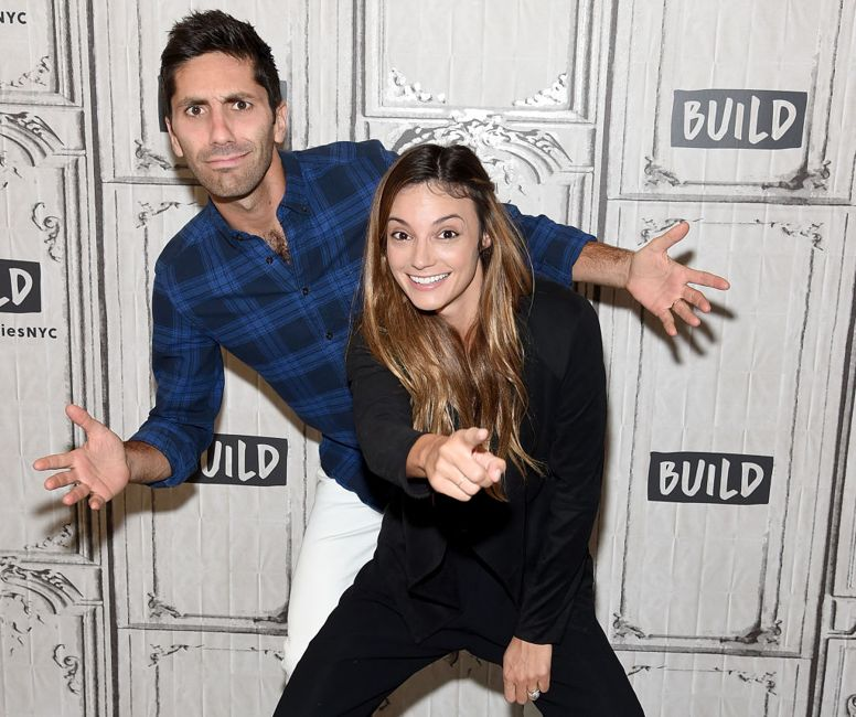 """NEW YORK, NY - AUGUST 31: Nev Schulman and Laura Perlongo attend the Build Series to discuss """"We Need To Talk"""" And """"Catfish""""at Build Studio on August 31, 2017 in New York City."""