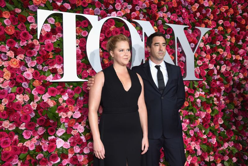 NEW YORK, NY - JUNE 10: (L-R) Amy Schumer and Chris Fischer attend the 72nd Annual Tony Awards at Radio City Music Hall on June 10, 2018 in New York City.