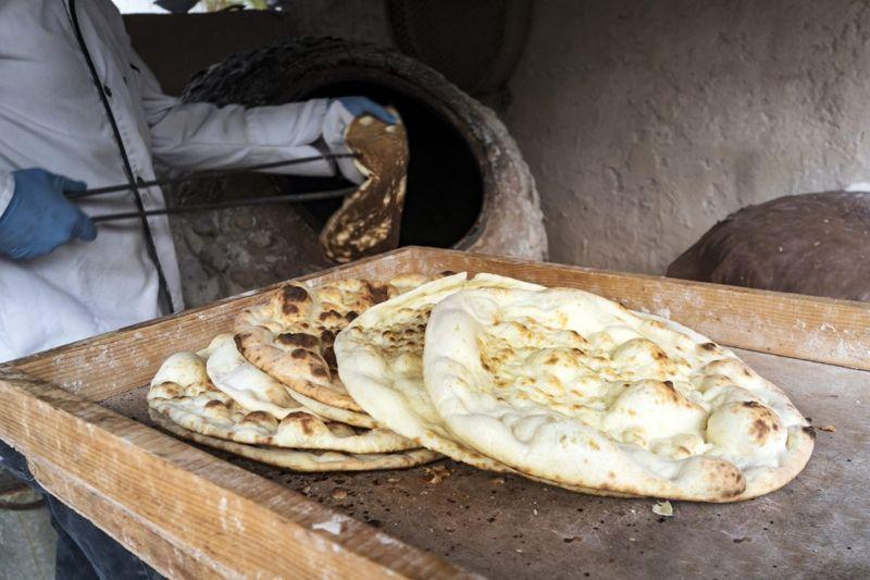 fresh baked flatbread