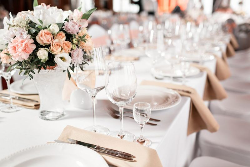 Beautiful wedding table at a reception