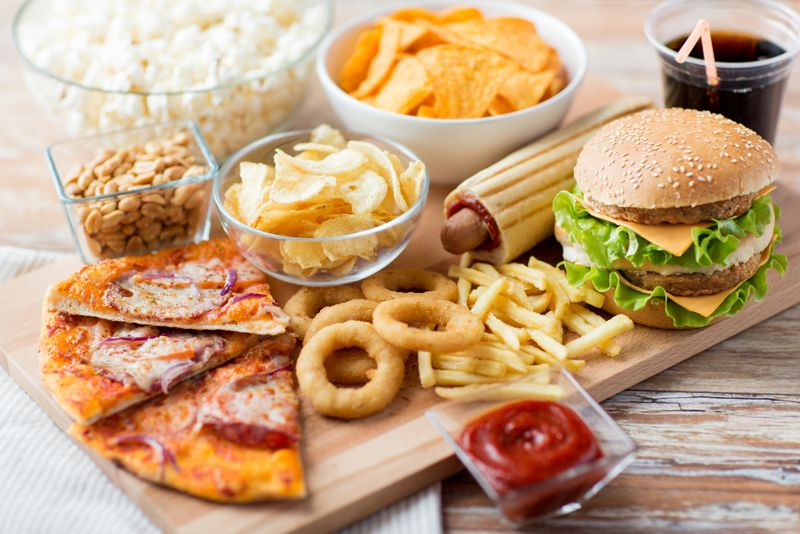 various fatty fast foods
