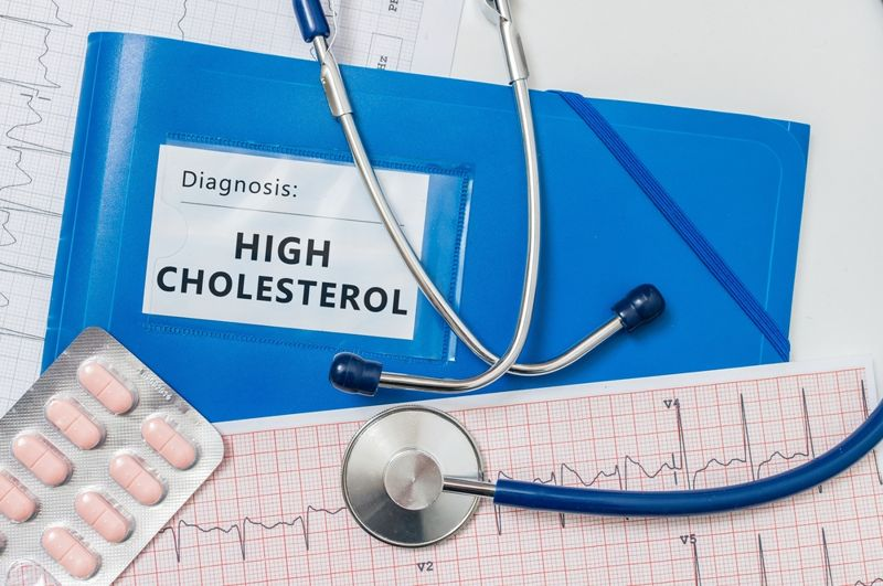 high cholesterol doctor concept