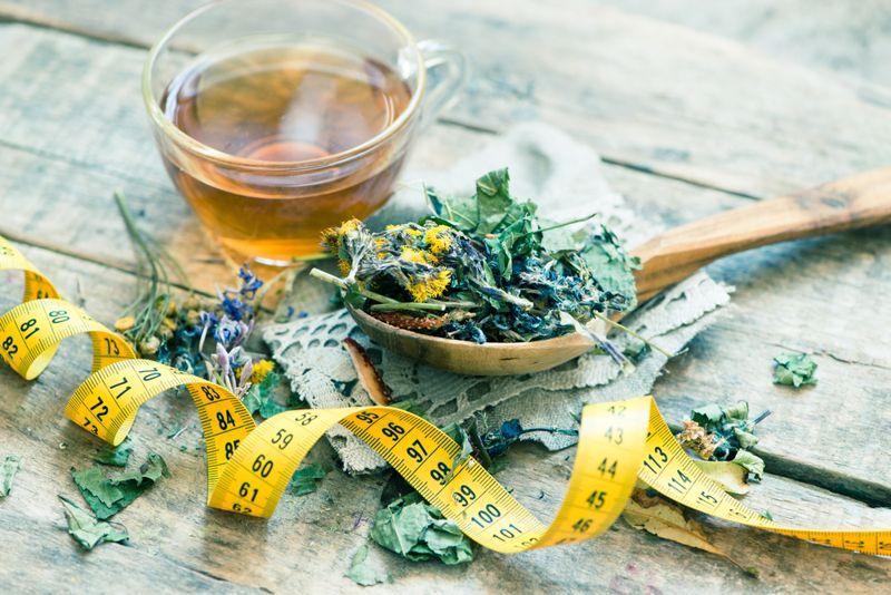 detox tea weight loss concept