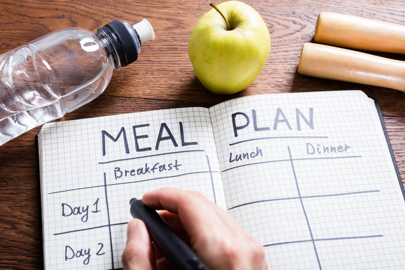 woman meal planning for the week