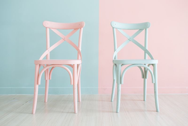 blue and pink pastel chairs