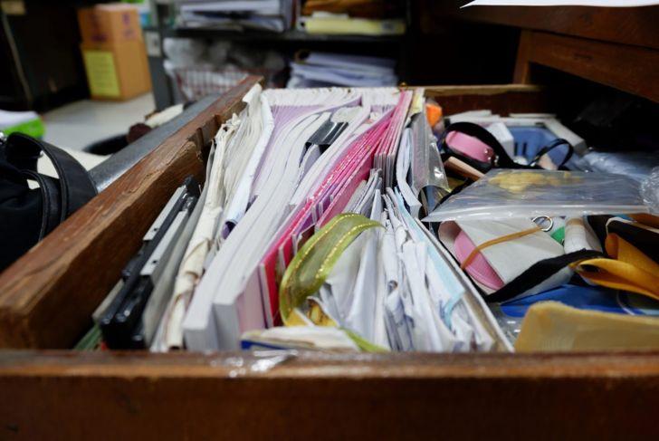 office drawer supplies clutter