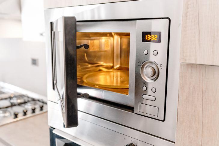 Modern kitchen microwave oven
