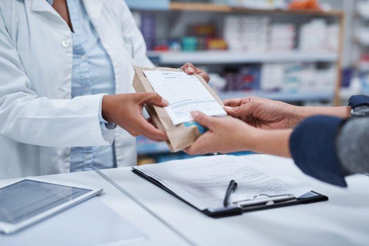 Prescription picking up medication pharmacy