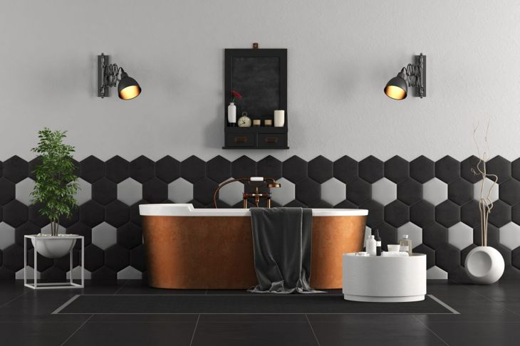 Copper Bathtub Style Statement Bathroom
