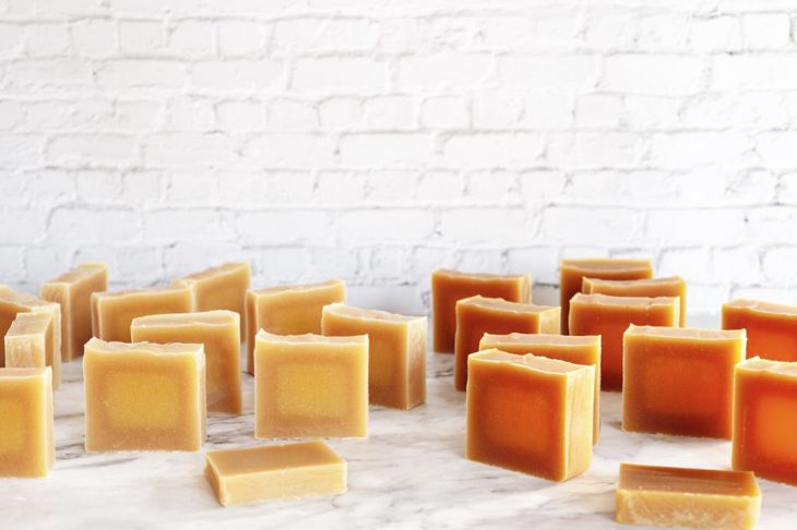 curing wax paper handmade soap