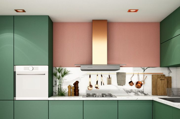 Pink paired with green and rose gold looks sophisticated.