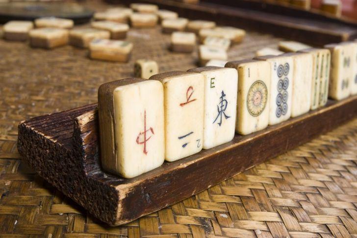 American mahjong using racks