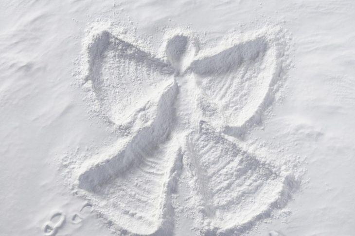Make an elf snow angel out of flour