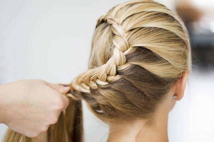 French braids spiral French braids snail braids