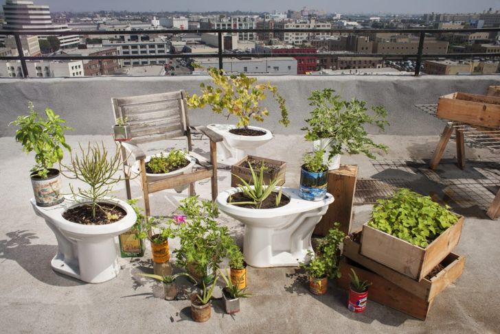 Landscaping ideas repurposed planters