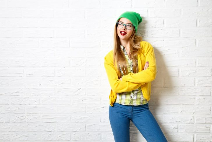Bright Contrast Clothes Woman