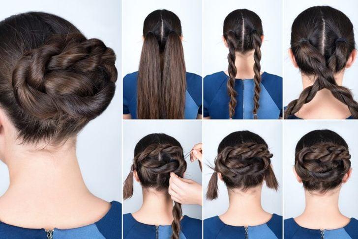 Twisted bun tutorial
