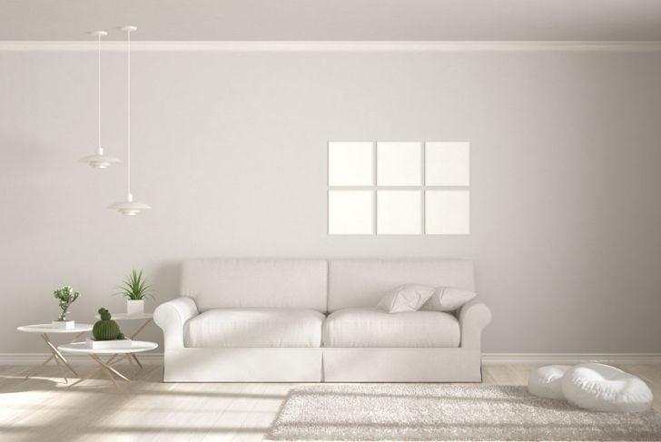 Minimalistic white living room