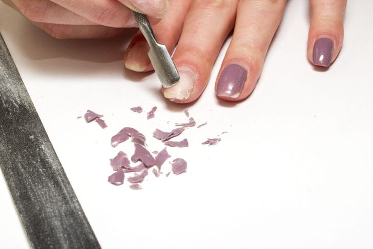 Remove acrylic nails with acetone