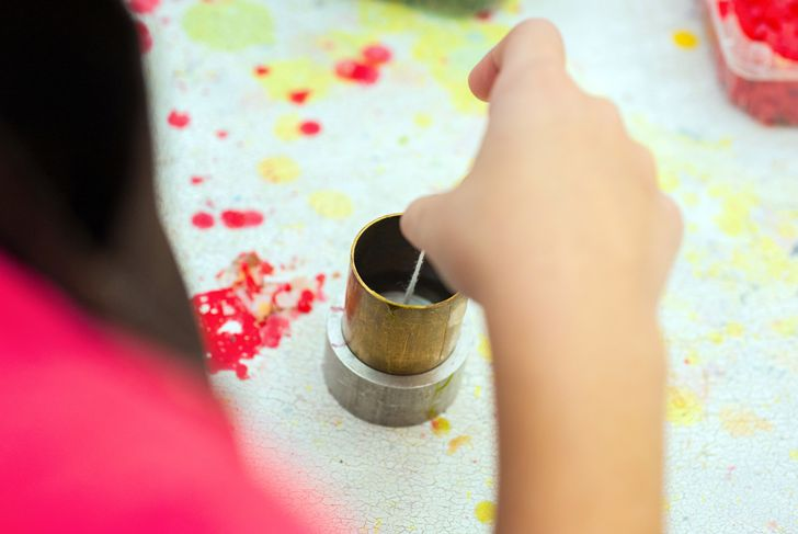 Liquid wax colors for candle production. Handmade