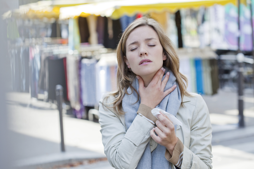 sensation sore throat