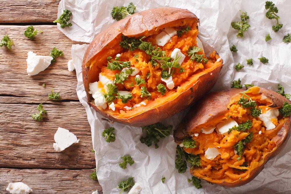 fiber sweet potatoes