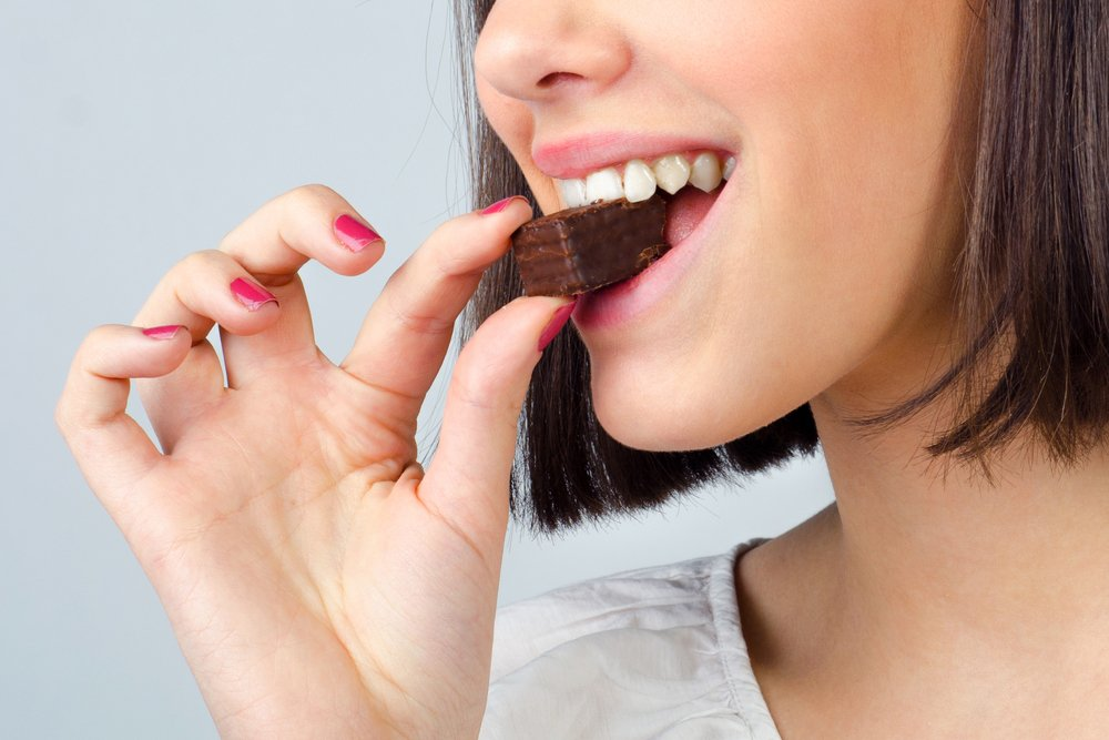 free radicals eating chocolate