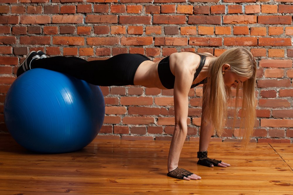 ball plank exercises
