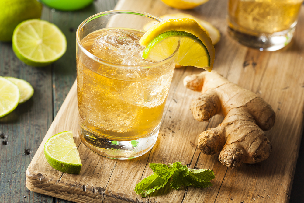 detox juices ginger ale