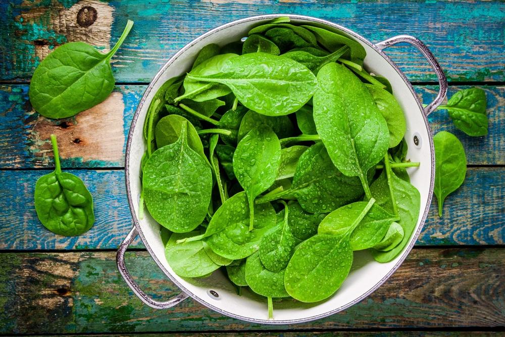 spinach healthy hair