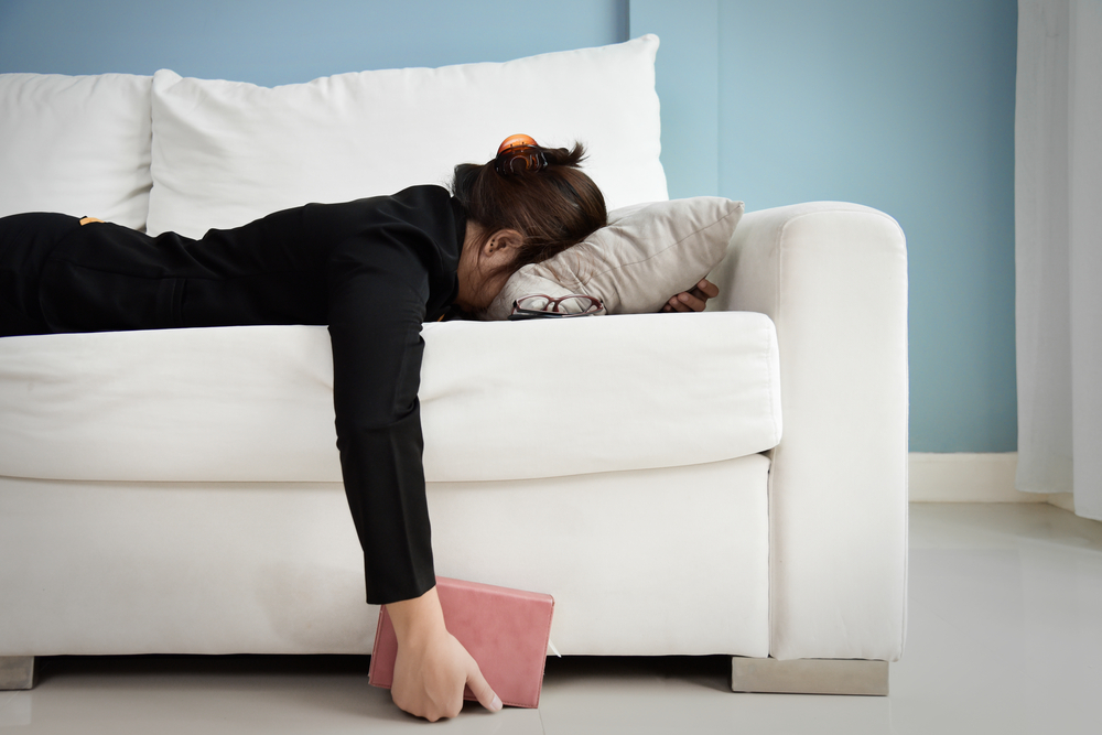 Exhaustion causes tension headaches