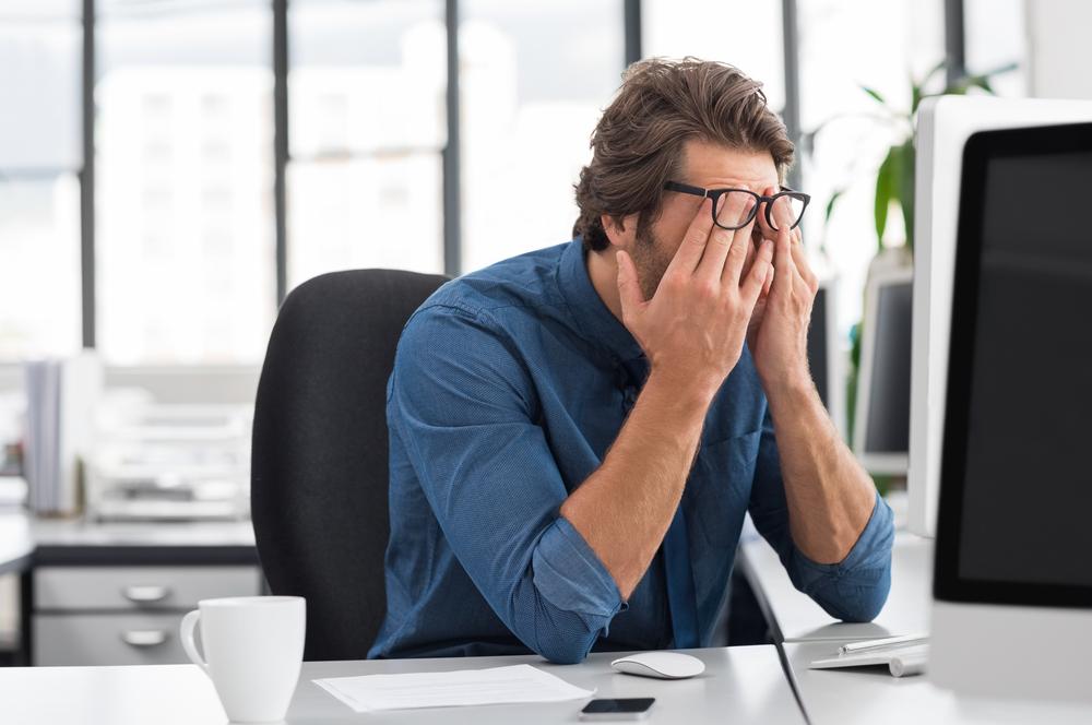 Eye strain leads to headaches