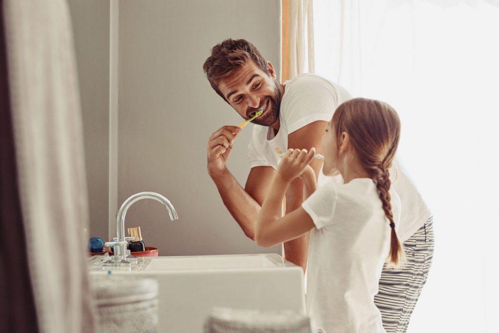 toothpaste brushing teeth