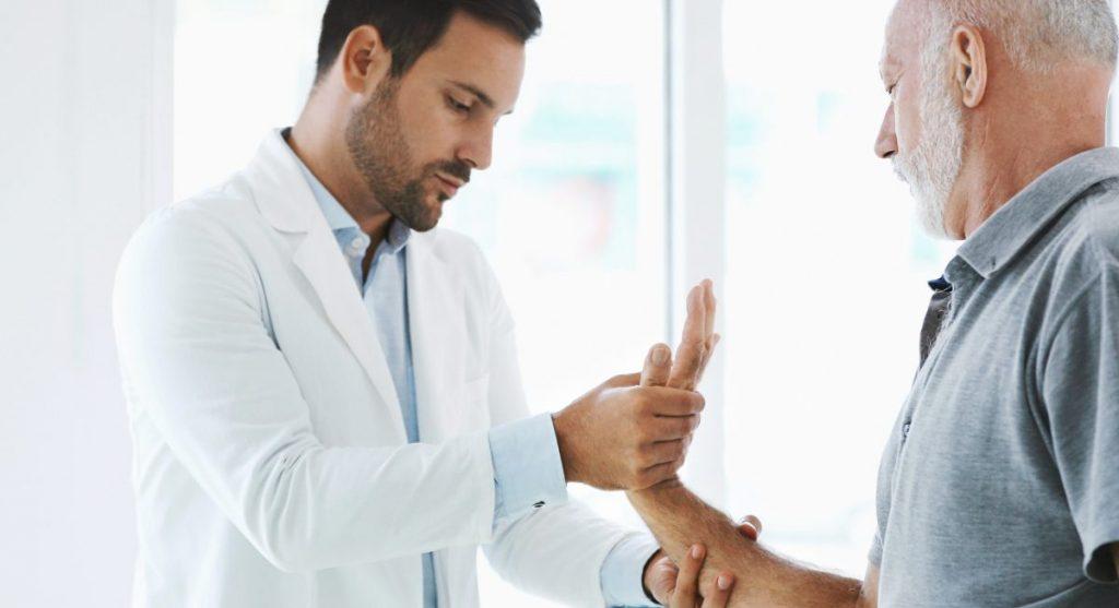 doctor hands fingers