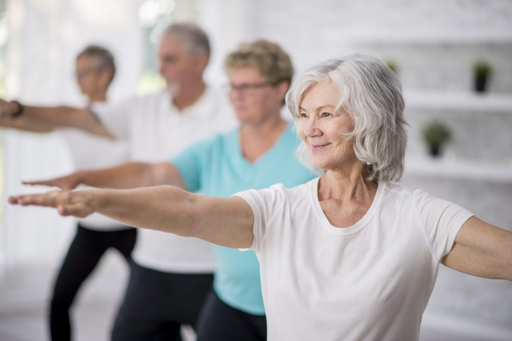 older people exercising arthritis