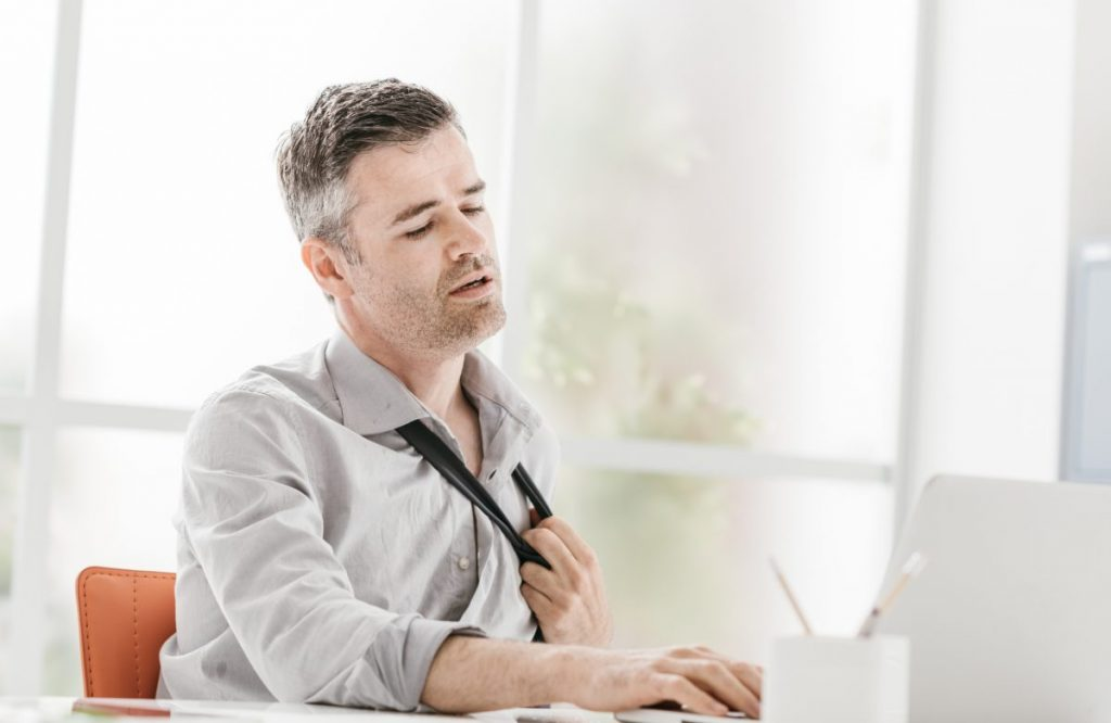 hot flashes Male Hypogonadism