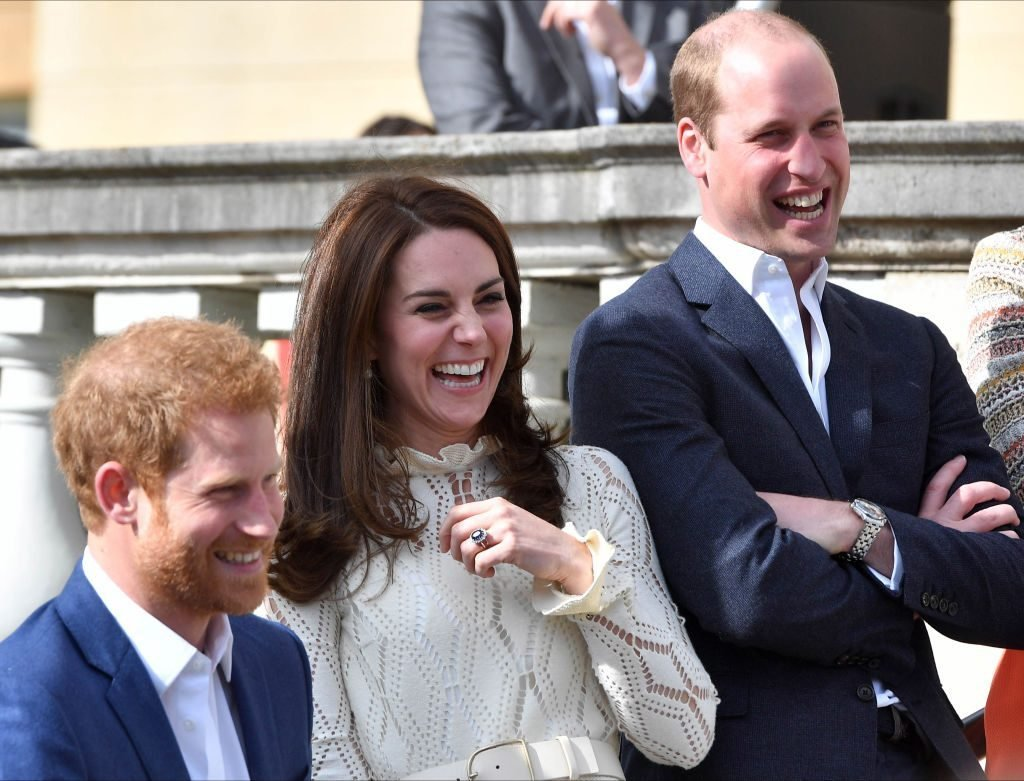 Kate Middleton with Harry and William