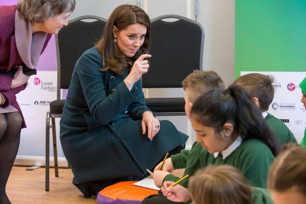 Kate Middleton teaching