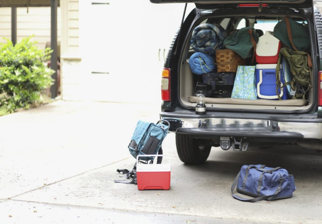 packing for a road trip