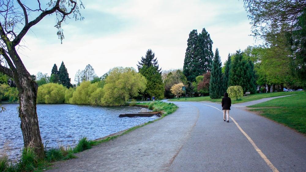 Green lake trail in Seattle.