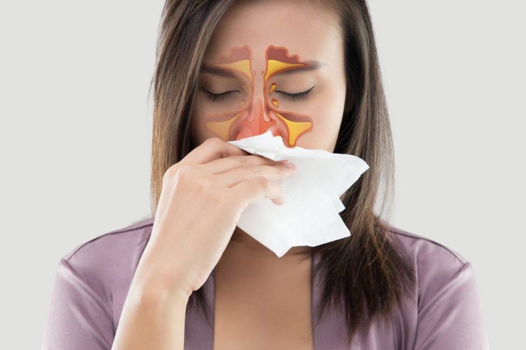 allergies blocked sinuses