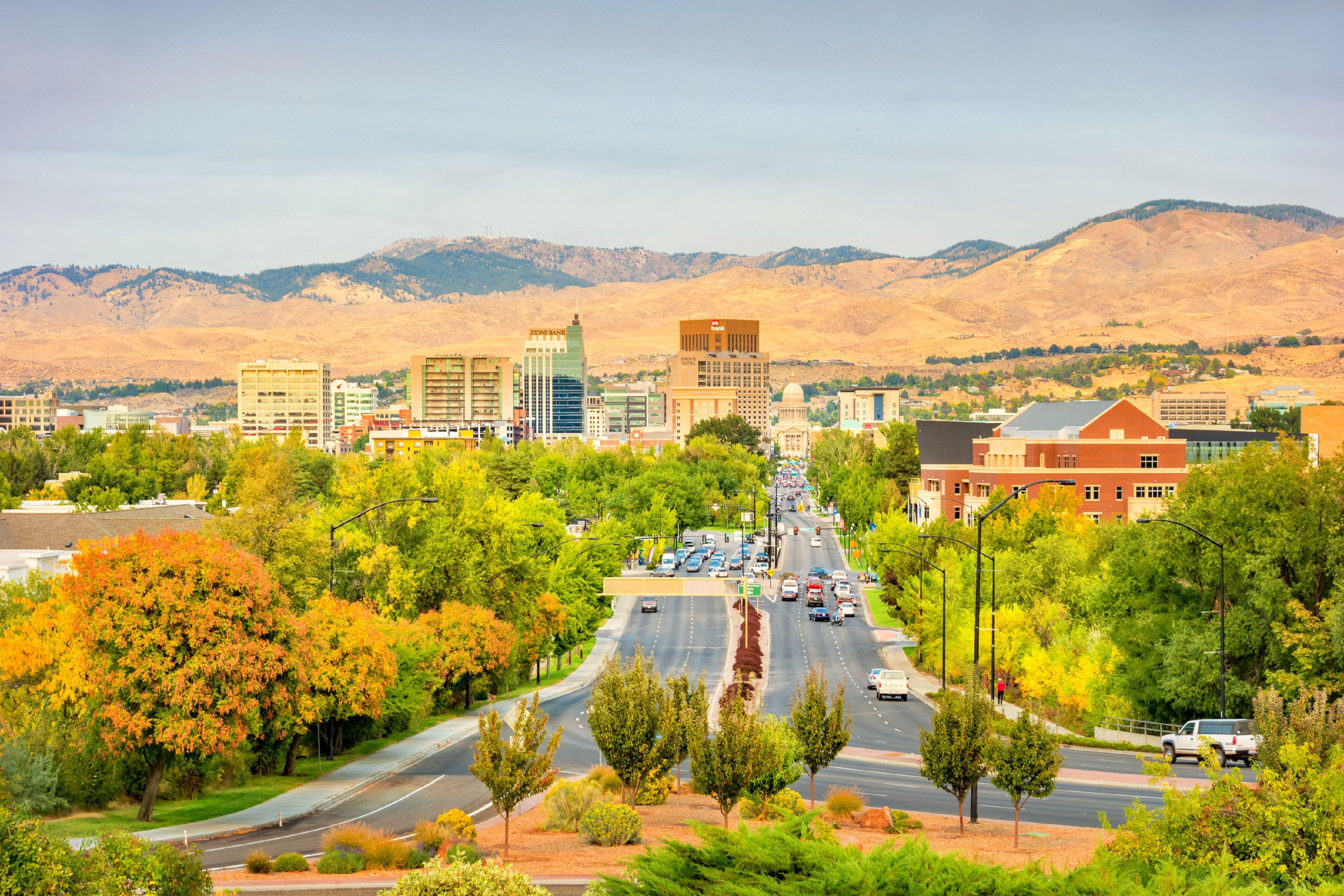 Downtown Boise Idaho USA